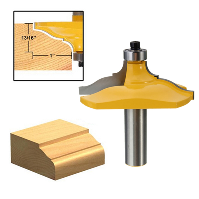 1/2 Inch Shank Ogee Chisel Wood Cutter Router Bit Set Door Woodworking Drilling Carpentry Tool large elaborate chair rail molding router bit 1 2 inch shank ogee chisel cutter router bit set door woodworking carpentry kit