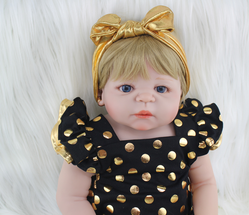 22 Full Silicone Body Reborn Girl Baby Doll Toys 55cm Newborn Princess Babies Doll Blonde Hair Birthday Gift Kids Brinquedos 22 full silicone body reborn girl baby doll toys 55cm newborn princess babies doll blonde hair birthday gift kids brinquedos page 3