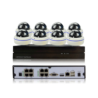 POE Indoor Hemisphere HD 720P IP Camera Network CCTV Monitoring System 8CH POE NVR P2P Security