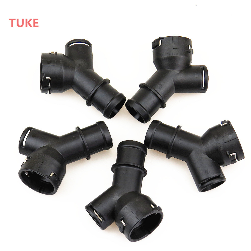 TUKE Car Engine Radiator Tee Connector Piece Hose For A3 TT Seat VW EOS Jetta Golf GTI Passat CC 1K0 122 291AE 1K0 122 291 AD