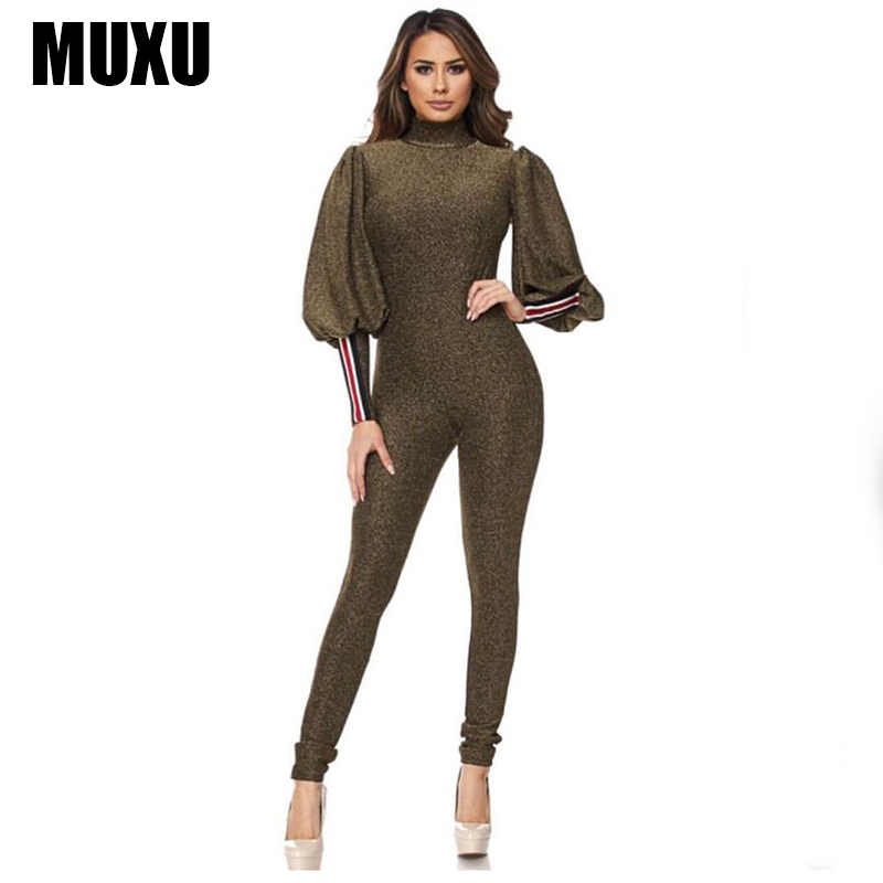MUXU sexy women jumpsuit bodies ladies backless womens long body feminino europe and the united states jumpsuits rompers tutine