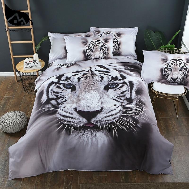 Dream NS 3D Animal Tiger Bedding set Super King California King Quilt Set Bedclothes kussensloop Bed