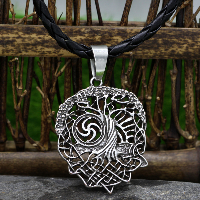 Tree Of Life Necklace Family Tree Slavic Rod Symbol Pendant Viking