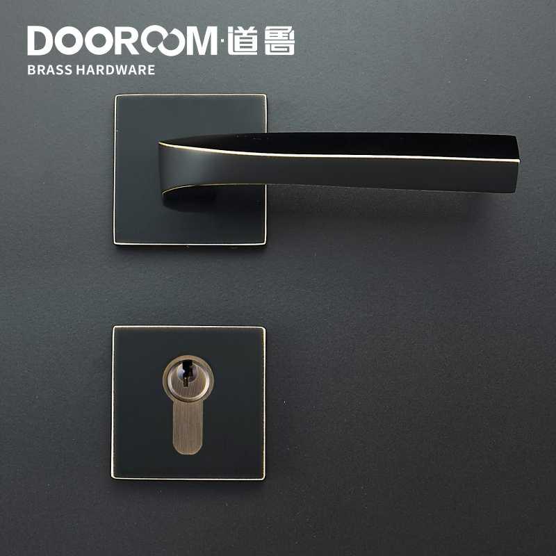 Dooroom латунный дверной рычаг Лофт современный американский межкомнатный дверной замок спальня Сплит безопасность механический набор латунная ручка вытяжная ручка