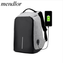 2017 new 16inch Men Laptop Multifunction USB Charge Computer Travel Bags Fashion Male Anti-theft   Mochila
