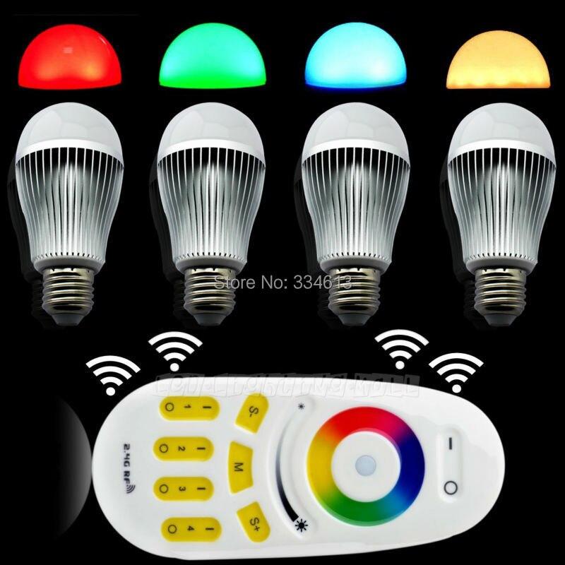 4x 2.4G E27 9W RGB+White(RGBW) or RGB+Warm White(RGBWW) WiF LED Bulb +4-Zone RF Touch Scree Remote Controller + Wifi Controller daikin flxs25b rxs25e