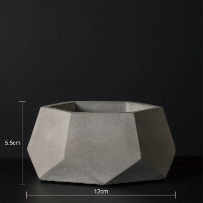 Geometric Polygon Concrete Flower Pot Making Silicone Mold Handmade For Succulent Plants Cactus DIY Cement Vase Mould