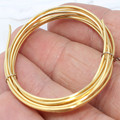 18 Gauge 3,3 Feet Gold Plated 24K Wire Half Hard wire, raw brass *