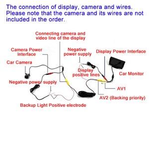 """Image 3 - Hippcron moniteur de voiture 4.3 """"écran pour vue arrière caméra de recul TFT LCD écran HD numérique couleur 4.3 pouces PAL/NTSC"""