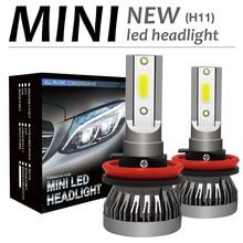 2 шт. H8/H9/H11 120 W 12000LM 6000 K светодиодный фар автомобиля комплект противотуманная Автомобильная фара Hi или Lo лампочки