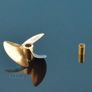 Image 5 - Zdalnie sterowana łódka Rc śmigło 3 ostrza miedziane rekwizyty średnica 36mm/37mm dla 3.18mm(1/8 )/4mm/4.76(3/16) śruba wału łodzi Prop