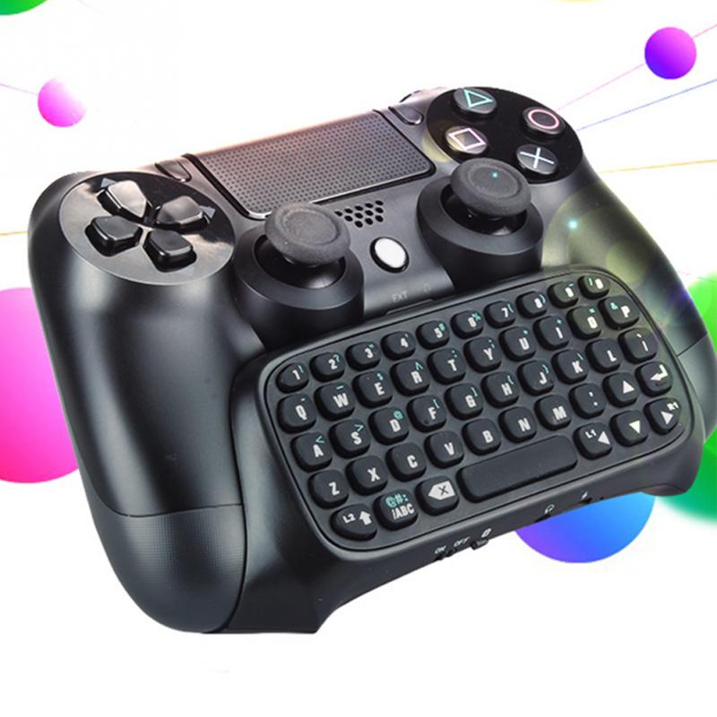 Bluetooth PS4 game controller+ wireless keyboard Portable Folding Ultra Slim Pocket Aluminum Alloy Keypad Keyboards