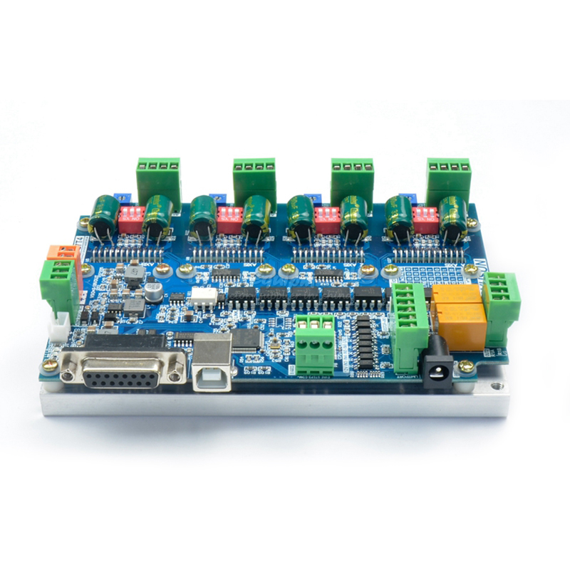 USB MACH3 4 axis drive development board C00127 stepper motor driver motor drive 4 5a 50v single axis stepper motor drive for 42 57 86 stepper motor drive