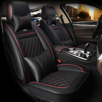 HLFNTF leather car seat covers Universal automotive seat covers Interior Accessories car styling for toyota bmw e46 ford vw