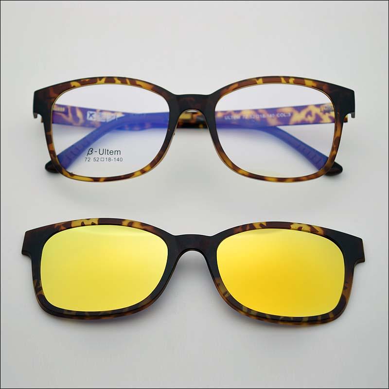 mercury polarized Ultra light glasses frame belt magnet polarized clip coating sunglasses myopia glasses female sunglasses
