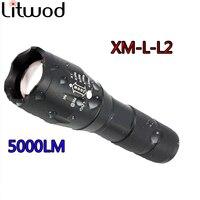 Z90 регулируемый светодиодный фонарик свет лампы CREE XM L2 фонарик 5000LM тактический фонарик Фонари Перезаряжаемые 18650