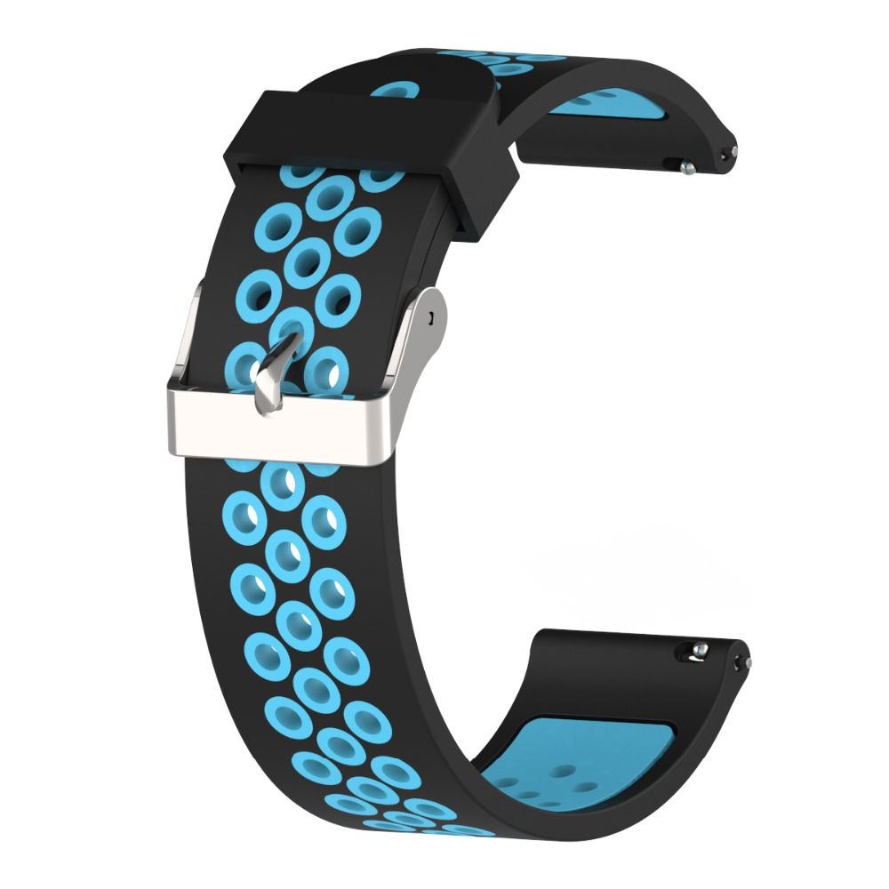 20MM Silicon Wristband Strap For Huami Amazfit Bip Bit GTR 42mm Samsung Gear Sport Galaxy Watch For Huawei Watch 2 Weloop band in Smart Accessories from Consumer Electronics