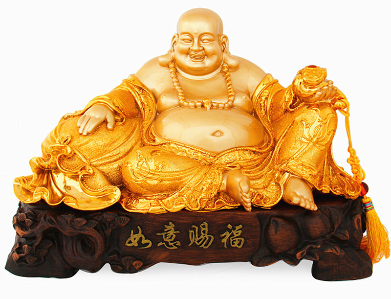 42cm Resin electroplating gold furnishing articles maitreya sitting room office decoration home decoration opening gifts crafts42cm Resin electroplating gold furnishing articles maitreya sitting room office decoration home decoration opening gifts crafts