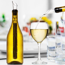 Stainless Steel Wine Chiller, Pourer and Aerator Stick