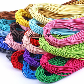 450M 2.0mm Colorful High-Elastic Round Elastic Band Round Elastic Rubber Rope Line DIY Sewing Accessories H4580