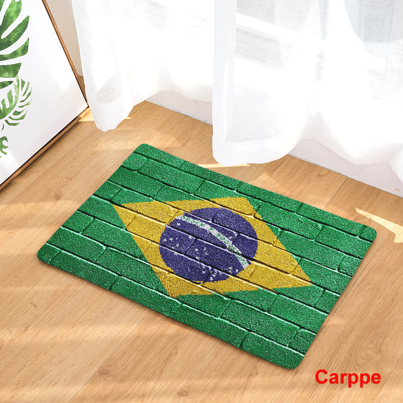 Image 5 - CAMMITEVER United States England Brazil Flag Non slip Mat Foyer Foot Carpet Rug Household Kitchen Door Pad Fashion Rugs-in Rug from Home & Garden