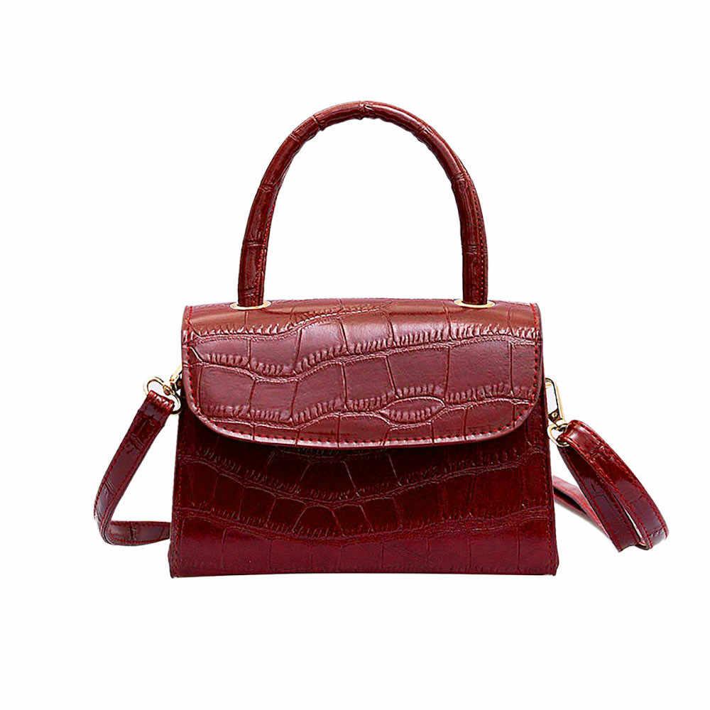 OCARDIAN Shoulder Bag Retro Portable Women Messenger Bags Small Square Bag  Soild Color Female Simple Bag 805f8e4aff66d
