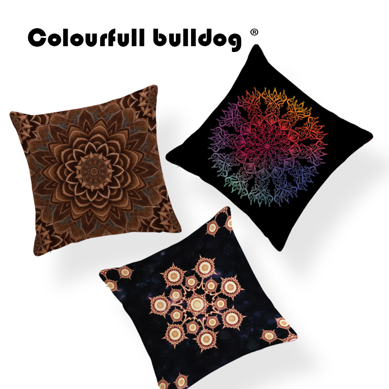 Geometry Diamond Mandala Cushion Cover Morocco Colorful Cover Pillow Rock Lounger Chair Decorations Dakimakura 18X18 Linen Royal