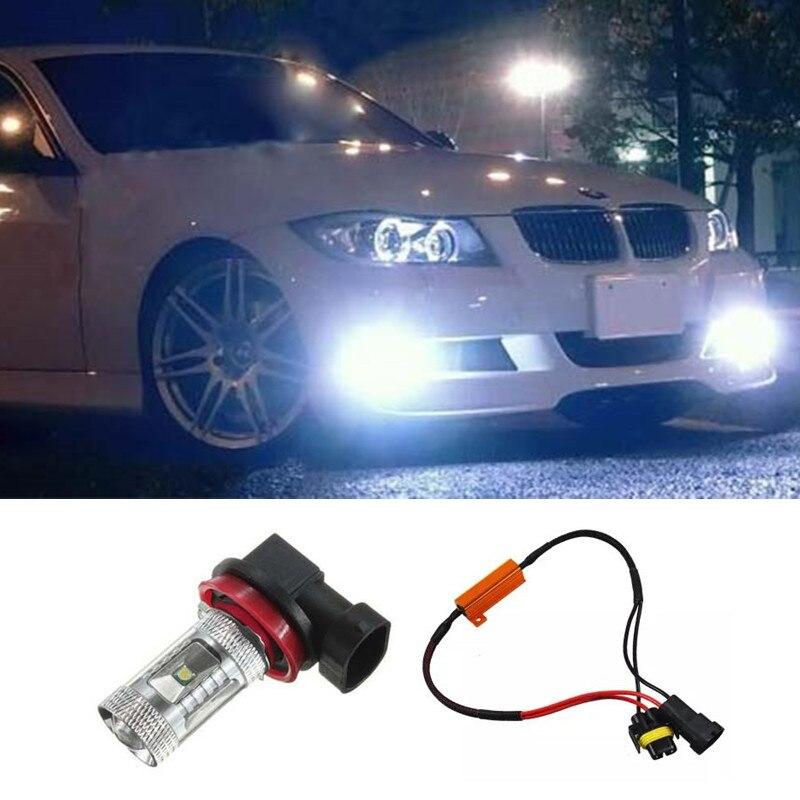 1pcs H11 LED 30W Fog DRL Light Bulb Lamp No Error For BMW 3/5-Series 328i 335i E39 525 530 535 E46 E60 E61 E92 E93 F10 X3 F25
