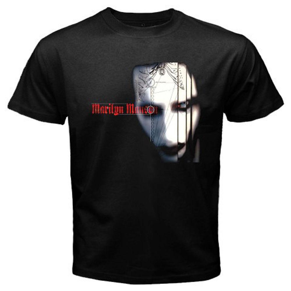 969fb9e1 New Marilyn Manson Evil Face Rock Music Icon Men's Black T-Shirt Size S-