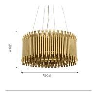 Европейский стиль Роскошные Royal Empire золотистый алюминий сплав люстра Большая насадка для декорирования тортов формы освещения французский