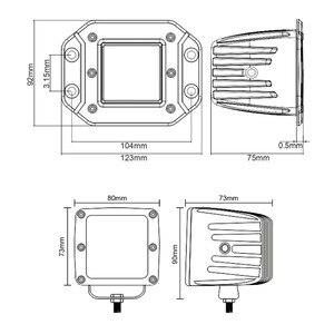 """Image 5 - 3 дюйма 5 """"Led дальнего света для автомобиля 4x4 внедорожника ATV 4WD пикапа грузовики Wrangler 12 В 24 В заподлицо фары рабочие огни"""