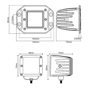 """Image 5 - 3 Inch 5"""" Led Driving Light For Car 4x4 Off road SUV ATV 4WD Pickup Trucks Wrangler 12V 24V Flush Mount Headlight Work Lights"""