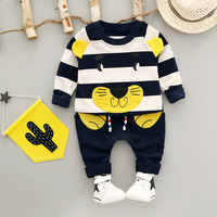 Baby Boy Clothing Set New Autumn 1 3 Year 2017 Fashion Style Cotton O Neck Full