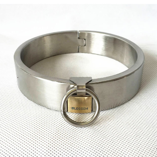 Hot fashion stainless steel slave collar with lock neck corset bdsm bondage fetish wear sex collar erotic toys for adults