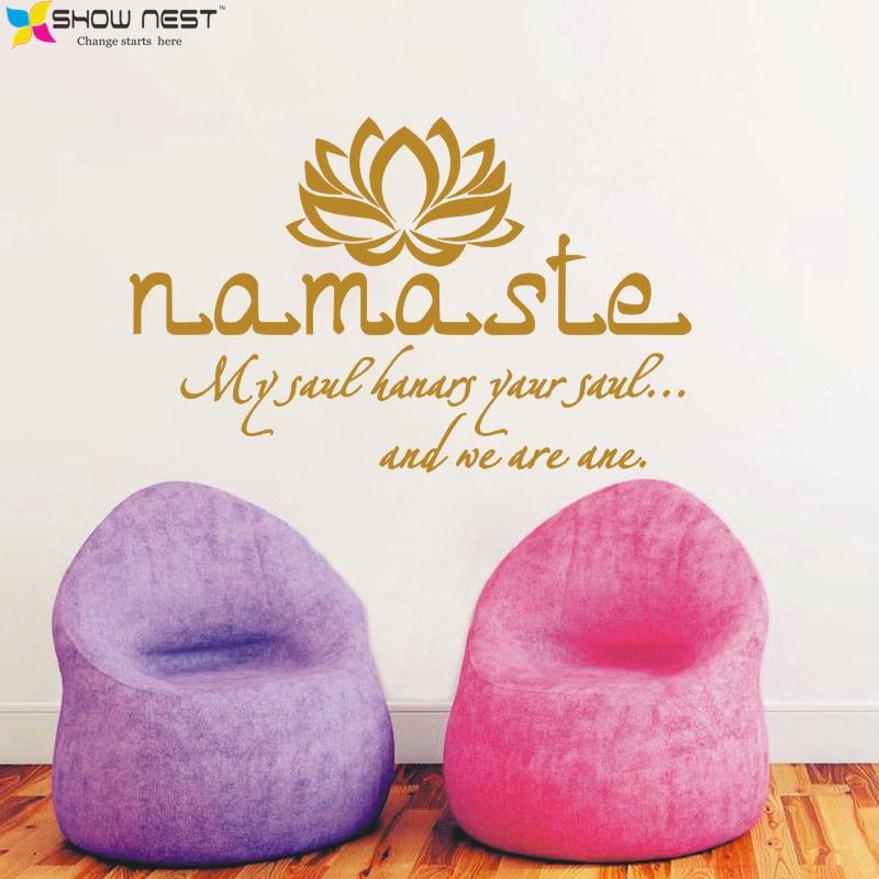 Buda Namaste Yoga Mandala Tatuajes de Pared Cotizaciones Pegatinas de Pared  Para Sala de estar Decoración