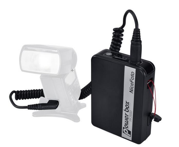 NiceFoto PA-2000N1 Speedlite Accessories PA Speedlite Power Box For Nikon Camera, 2000mAh Li-ion Battery, Flash External Power