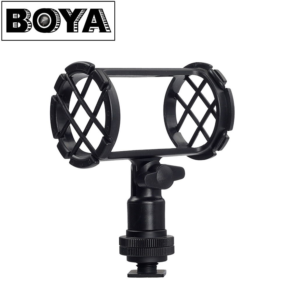 BOYA BY-C04 Fotocamera Microfono Shock Mount per AKG D230 Senheisser ME66 Rode NTG-NTG-Audio-Technica AT-875R Sony ECM-CG50