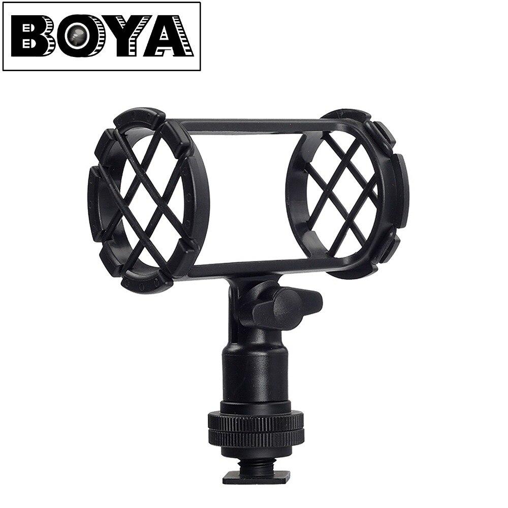 BOYA BY-C04 Camera Microphone Shock Mount For AKG D230 Senheisser ME66 Rode NTG-2 NTG-1 Audio-Technica AT-875R Sony ECM-CG50