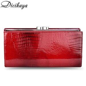 Image 3 - DICIHAYA Genuine Leather Women Wallet Multifunction Womens Clutch Wallets Brand Purses Femme Billetera Card Holder Phone Bag