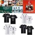 Kpop BTS ALLKPOPER T-Shirt Uniforme de Beisebol EXO Tshirt BAP Monsta X GOT7 IKON Blackpink