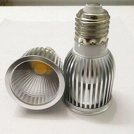 20X Free shipping Dimmable 10W GU10 E27 MR16 E14 COB LED lamp light led Spotlight White/Warm white led lighting AC110V/AC220V