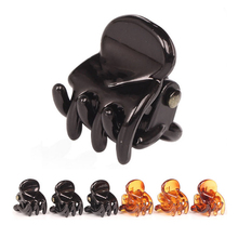 12pcs/Bag Black Hair Clips Clipper Clip Barrettes For Women Ladies Plastic 6 Claws Hairpin Headwear Hair Styling Tools