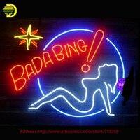 Larger Bada Bing Girls Neon Sign Handcrafted Neon Bulbs Night Light Real Glass Tube Lamp Neon