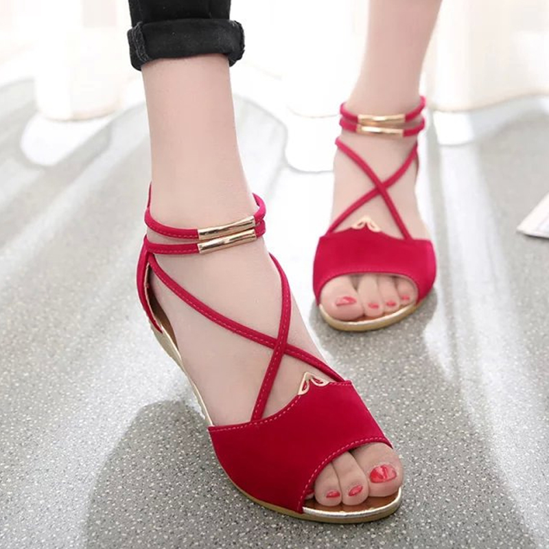 Women's sandals 2018 gladiator sandals Casual Ladies Women's summer shoes woman sandals Open Toe wedge Heel zapatos mujer plus size 34 44 summer shoes woman platform sandals women rhinestone casual open toe gladiator wedges women zapatos mujer shoes