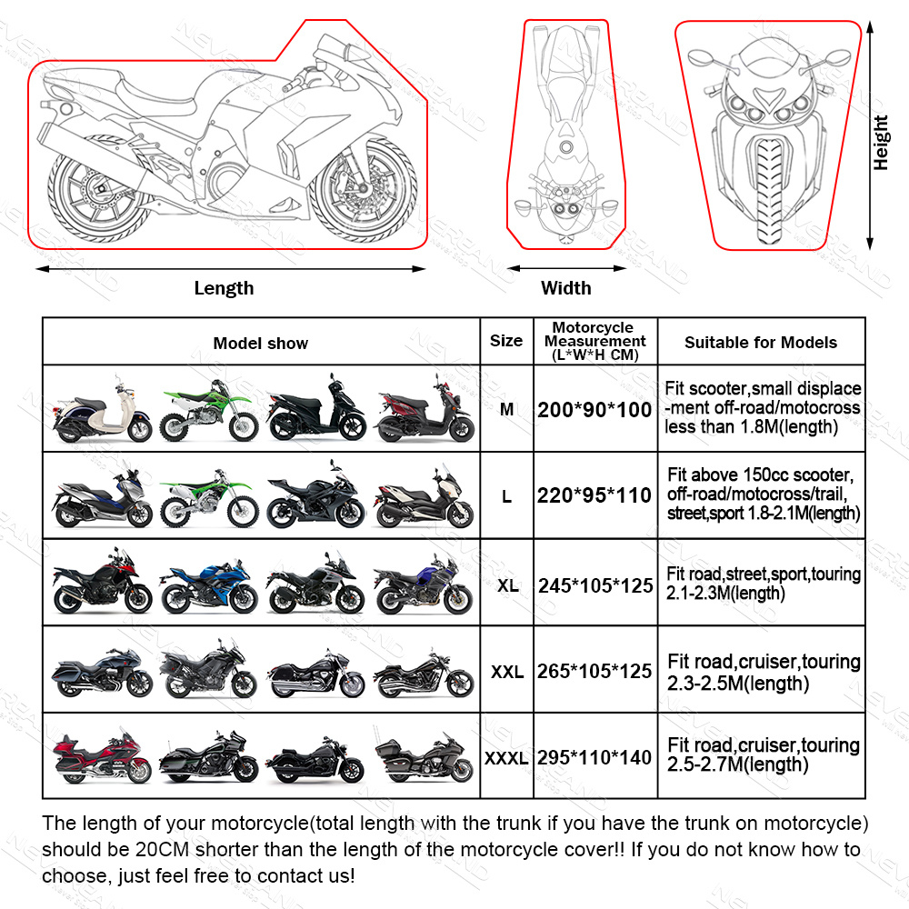 Motorcycle Covers UV Protective Outdoor Indoor Waterproof Dustproof Lock holes Design All Size Motorbike Rain Snow Cover D35 in Motocycle Covers from Automobiles Motorcycles