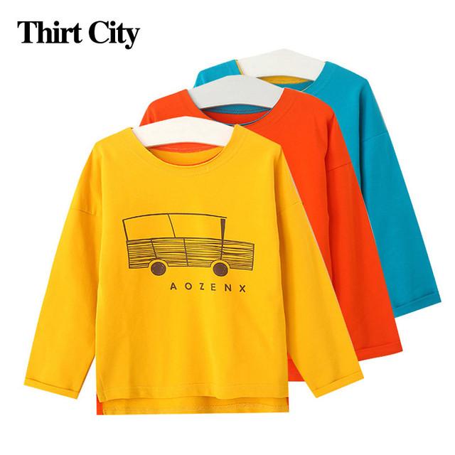 11.11 Nova Candy-Colored Grânulo Irregular Longo-Manga Algodão T Camisa Dos Desenhos Animados Do Trole Meninas Camisolas 2016 Outono Inverno roupas