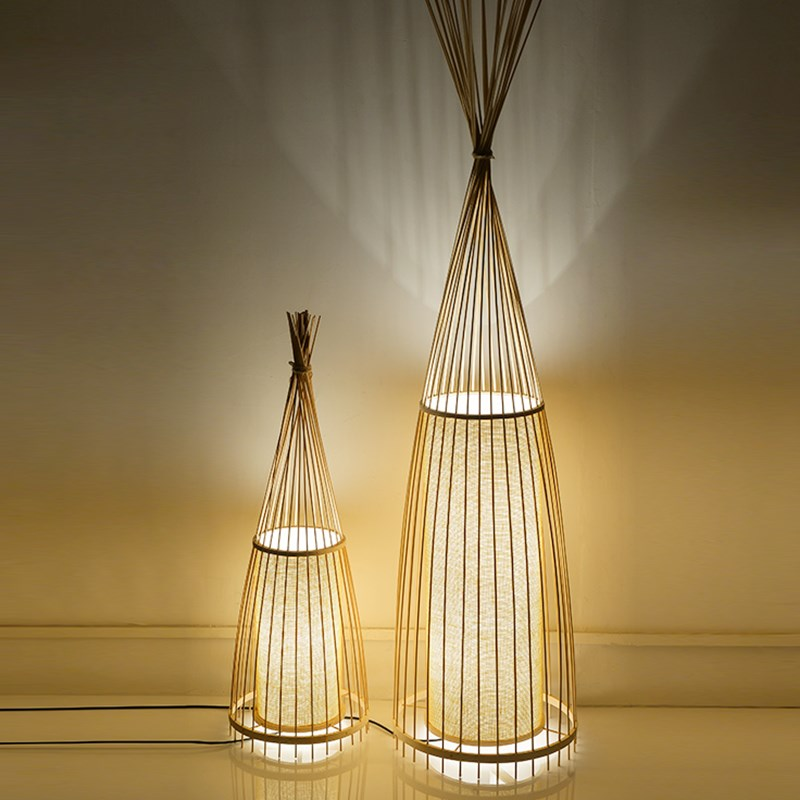 New Chinese Bamboo Floor Lamps Living Room Lamp Bamboo Tea