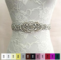 2017 Colorful Crystal Wedding Belts Real Samples Satin Rhinestones Beading Pearls Bridal Ribbons Sashes Wedding Accessories