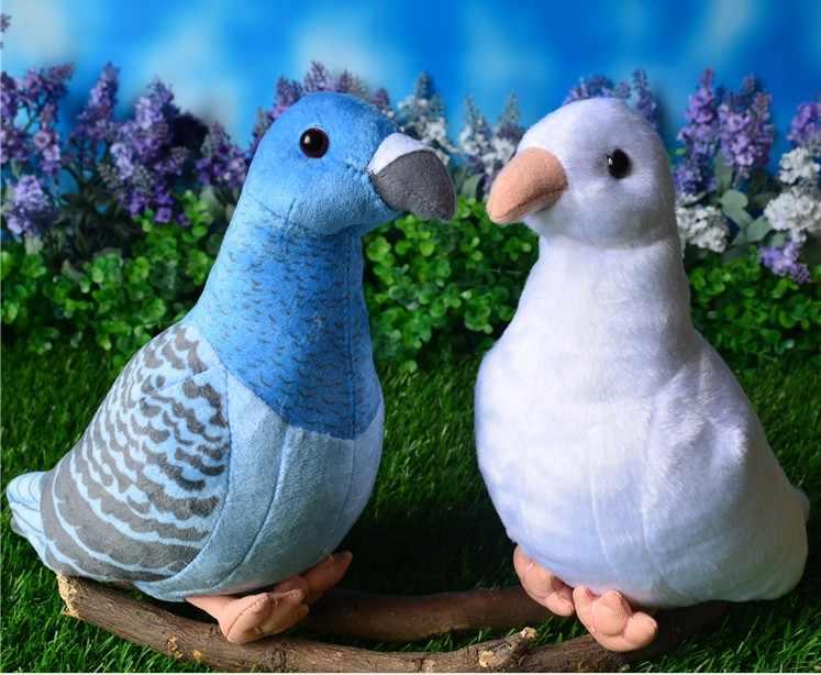 จัดส่งฟรีใหม่นกพิราบนกแก้วนกจำลองสัตว์ตุ๊กตาของเล่นตุ๊กตา Plush สำหรับเด็ก girlfreind วันเกิดของขวัญ