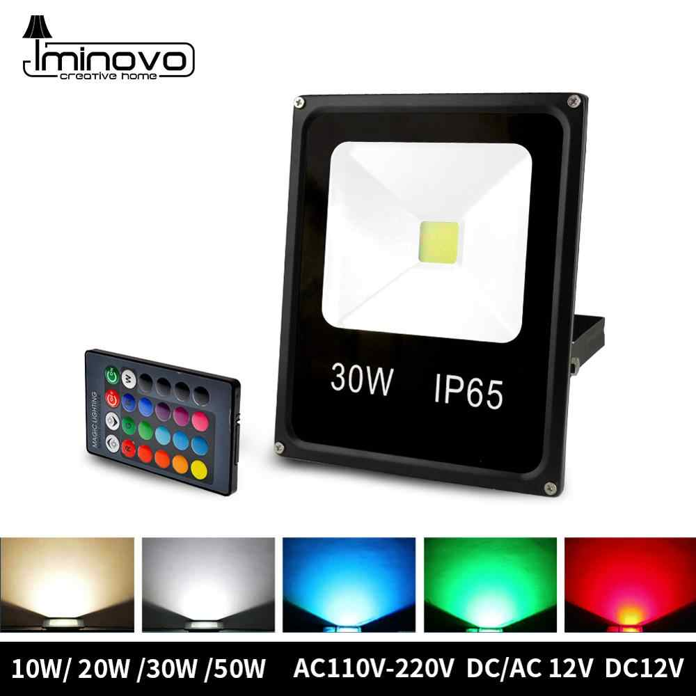 Led Flood Light Outdoor Spotlight Floodlight 10W 20W 30W 50W Wall Washer Lamp Reflector IP65 Waterproof Garden 220V RGB Lighting